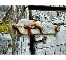 Shabby Old Latch Photographic Print