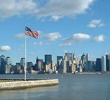 Manhatten From Ellis Island by kimhaz