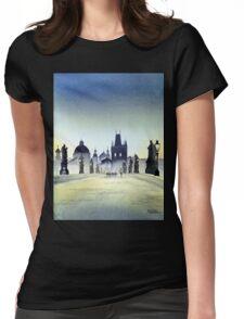 Romantic Evening - Charles Bridge Prague Womens Fitted T-Shirt