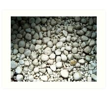 White rock pattern Art Print
