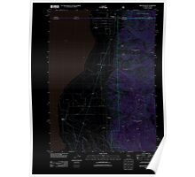 USGS Topo Map California Willow Ranch 20120312 TM Inverted Poster
