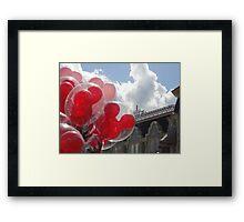 Main Street Balloons Framed Print
