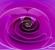 Pink Abstract Rose by sarah63