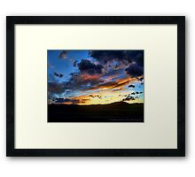 Sunset over Elmo Framed Print