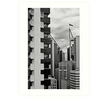 High Rise Geometrics in Black and White Art Print