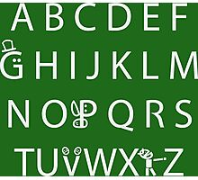 Canadian Alphabet Photographic Print