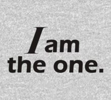 I am The One (bold) Kids Tee