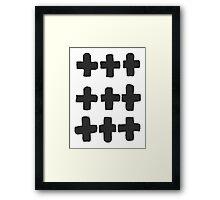 Modern Plus Signs Framed Print