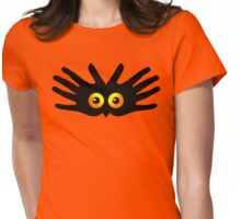 OWL IN HAND Womens Fitted T-Shirt