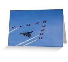 Vulcan and Red Arrows Greeting Card