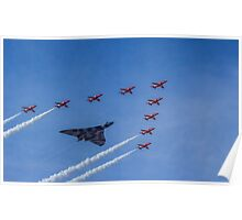 Vulcan and Red Arrows Poster
