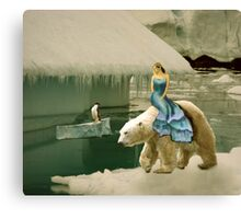 She lives life in her own little fairytale Canvas Print