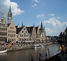 Ghent canal scene by jeffwild