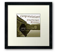 Congratulations Challenge Winner Sepia Framed Print