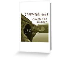 Congratulations Challenge Winner Sepia Greeting Card