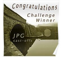 Congratulations Challenge Winner Sepia Poster