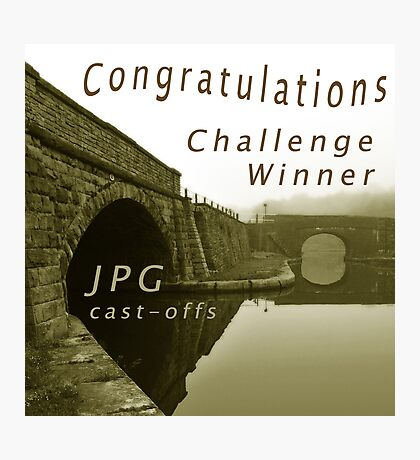 Congratulations Challenge Winner Sepia Photographic Print