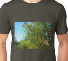 Side view of a pine branch with long needles Unisex T-Shirt