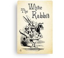 Alice in Wonderland -  The White Rabbit - Lewis Carroll Quote - 0194 Canvas Print