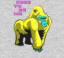 Free To Be Me Gorilla Women's Fitted V-Neck T-Shirt
