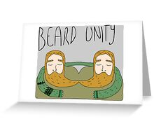 Bearded men unity Greeting Card