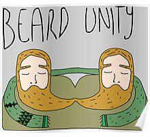 Bearded men unity Poster