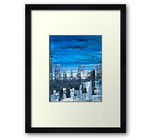 Blue sky transparent city Framed Print