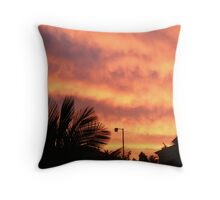 Orange Sunset In Suburbia Throw Pillow