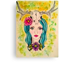 Goddess of the Sacred Woods Canvas Print