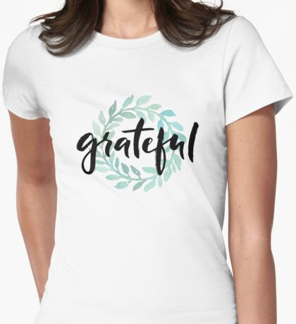 Grateful Womens Fitted T-Shirt