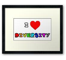 I Heart Diversity Framed Print
