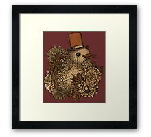 A Very Dapper Bird Framed Print
