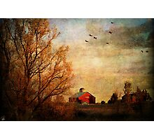 Old Red Barn Photographic Print