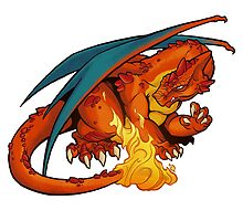 Fire Dragon (#006) by Jeff Powers Illustration