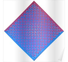Red/Blue Weave Poster