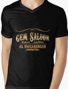 Gem Saloon vintage Mens V-Neck T-Shirt