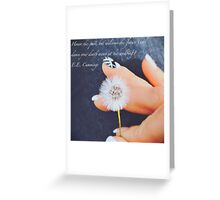 Dive For Dreams Greeting Card