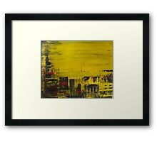 Yellow Cityscape Framed Print