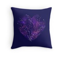 Night heart - all blue Throw Pillow