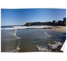 View To South Newcastle Beach Poster