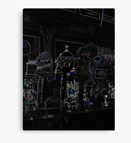 Glow Bar Canvas Print