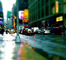 NY in the rain by Brad Levine