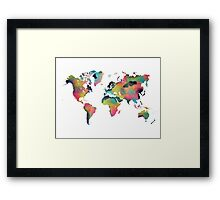 World map 4 Framed Print