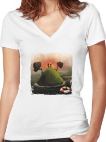 Island Women's Fitted V-Neck T-Shirt