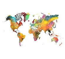 world map 3 Photographic Print