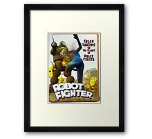 Robot Fighter Fake Pulp Cover 2 Framed Print