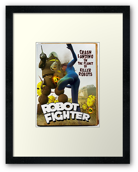 Robot Fighter Fake Pulp Cover 2 by mdkgraphics