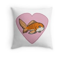 Fish Heart Throw Pillow