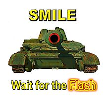 Smile... Wait for the Flash Photographic Print