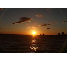 Sunset from Battery Park NYC 2 Photographic Print